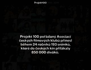 projekt100.cz screenshot