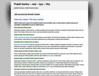 projektbazen.cz screenshot