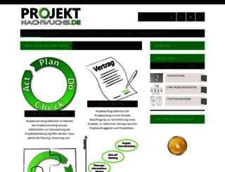projektnachwuchs.de screenshot