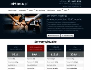 projektowanie.ehost.pl screenshot