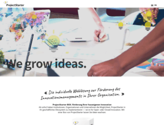 projektstarter.ch screenshot