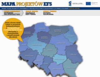 projekty.efs.gov.pl screenshot