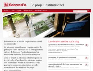 projet-institutionnel.sciences-po.fr screenshot
