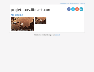 projet-laos.libcast.com screenshot