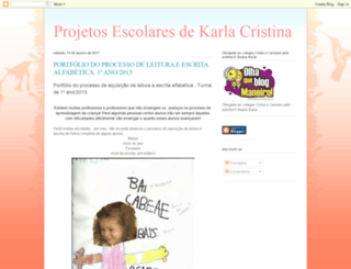 projetoskarla.blogspot.ro screenshot