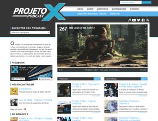 projetoxpodcast.com.br screenshot
