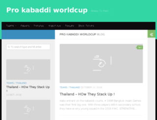 prokabaddiofficial.com screenshot