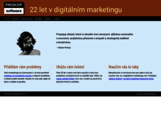 prokopsw.cz screenshot