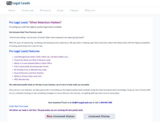 prolegalleads.com screenshot