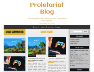 proletariatblog.com screenshot
