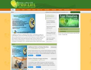 prolife.org.ph screenshot