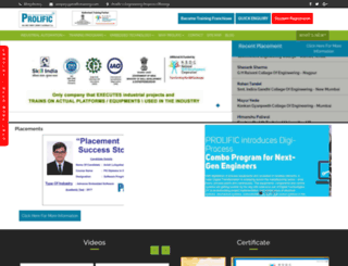 prolifictraining.com screenshot