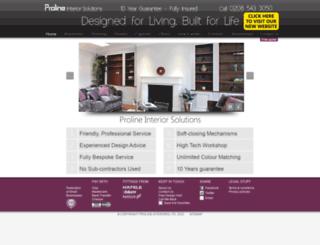 prolineinteriors.co.uk screenshot