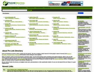 prolinkdirectory.com screenshot