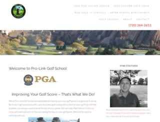 prolinkgolfschool.com screenshot