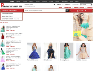 promdressesshop.org screenshot