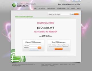 promin.ws screenshot
