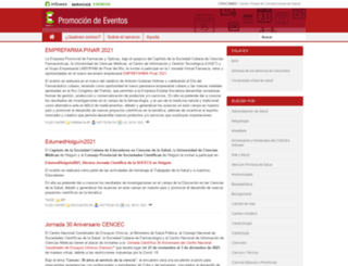 promociondeeventos.sld.cu screenshot