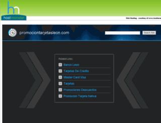 promociontarjetasleon.com screenshot