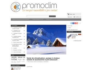 promoclim.fr screenshot