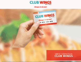 promoclub-wings.com.mx screenshot