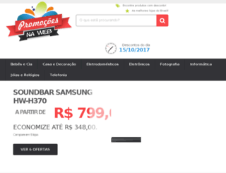 promocoesnaweb.com.br screenshot