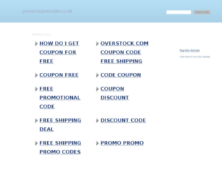 promocouponcodes.co.uk screenshot