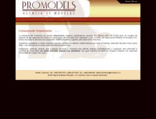 promodels.co.cr screenshot