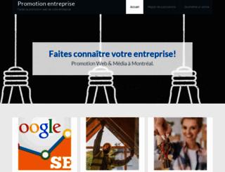 promotion-entreprise.ca screenshot