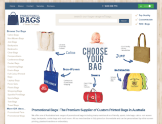 promotionalbags.com.au screenshot