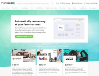promotionalcodes.com screenshot