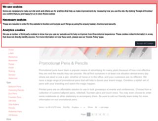 promotionalpensprinted.com screenshot