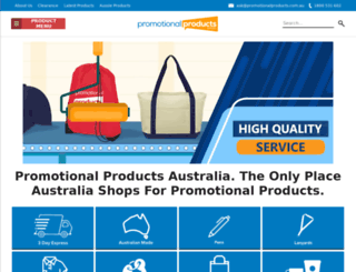 promotionalproducts.com.au screenshot