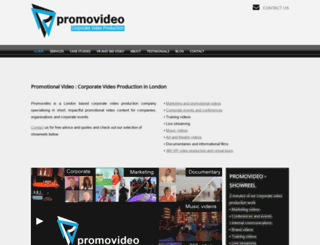 promovideo.co.uk screenshot