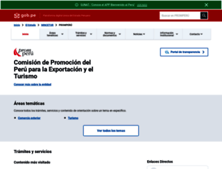 promperu.gob.pe screenshot