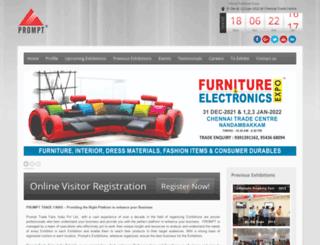 prompttradefairs.com screenshot