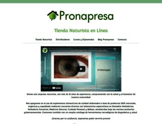 pronapresa.com.mx screenshot