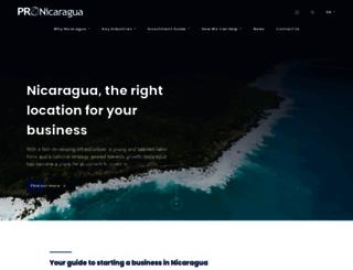 pronicaragua.org screenshot