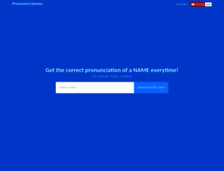 pronouncenames.com screenshot
