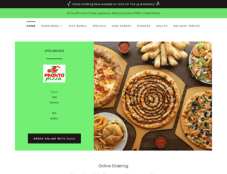 pronto-pizza.com screenshot