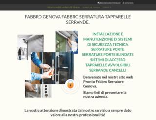 prontofabbroserraturegenova.it screenshot