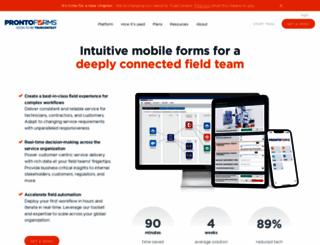 prontoforms.com screenshot