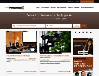prontoprofessionista.it screenshot