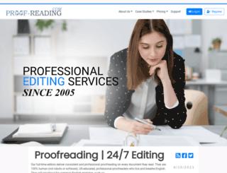 proof-reading.com screenshot