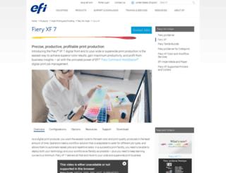 proofingsolutions.efi.com screenshot