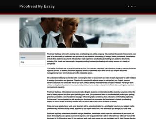 proofreadingcompany.weebly.com screenshot