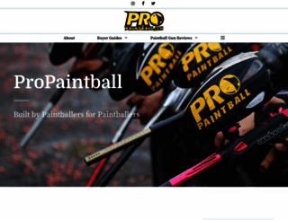 propaintball.com screenshot