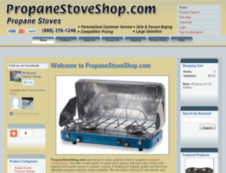 propanestoveshop.com screenshot