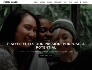 propelwomen.org screenshot