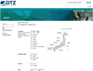 properties-japan.dtz.com screenshot